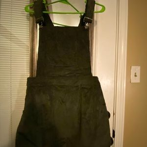 Army Green corduroy overall dress